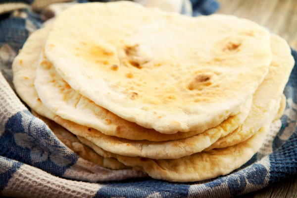 Fill pita bread with your favorite filling.