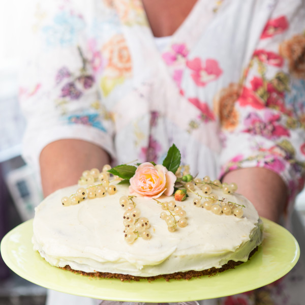 A little bit of decoration turns your carrot cake into a party show stopper!