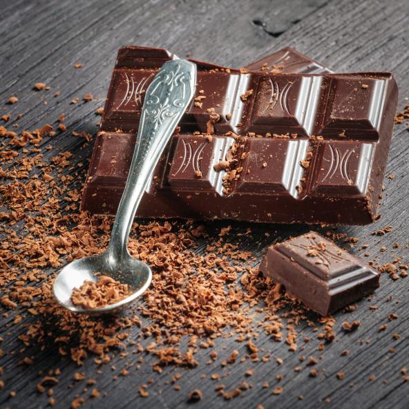 Hackad mörk choklad gör att det blir en riktig chokladdröm..